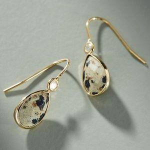 Anthropologie Vera Mini Drop Earrings, spotted